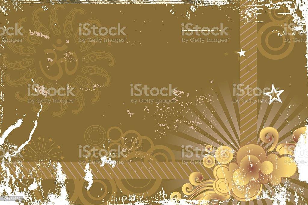 om - Greeting card vector art illustration