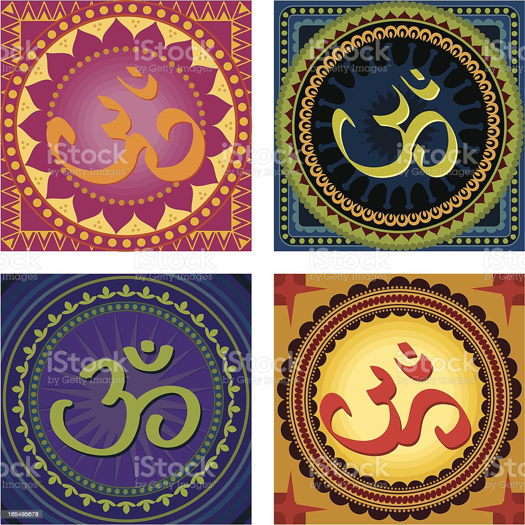 Om Mandala Tiles (Vector) royalty-free stock vector art