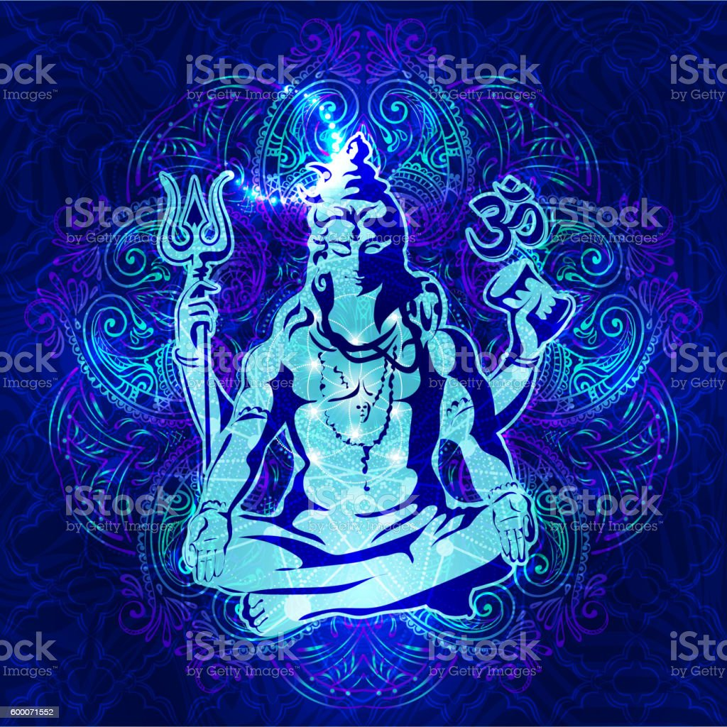 Om Namah Shivaya 3 vector art illustration