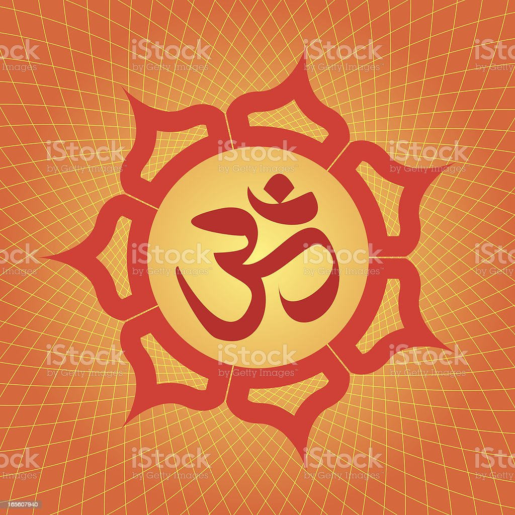 Om or Aum Symbol, Vector Illustration royalty-free stock vector art