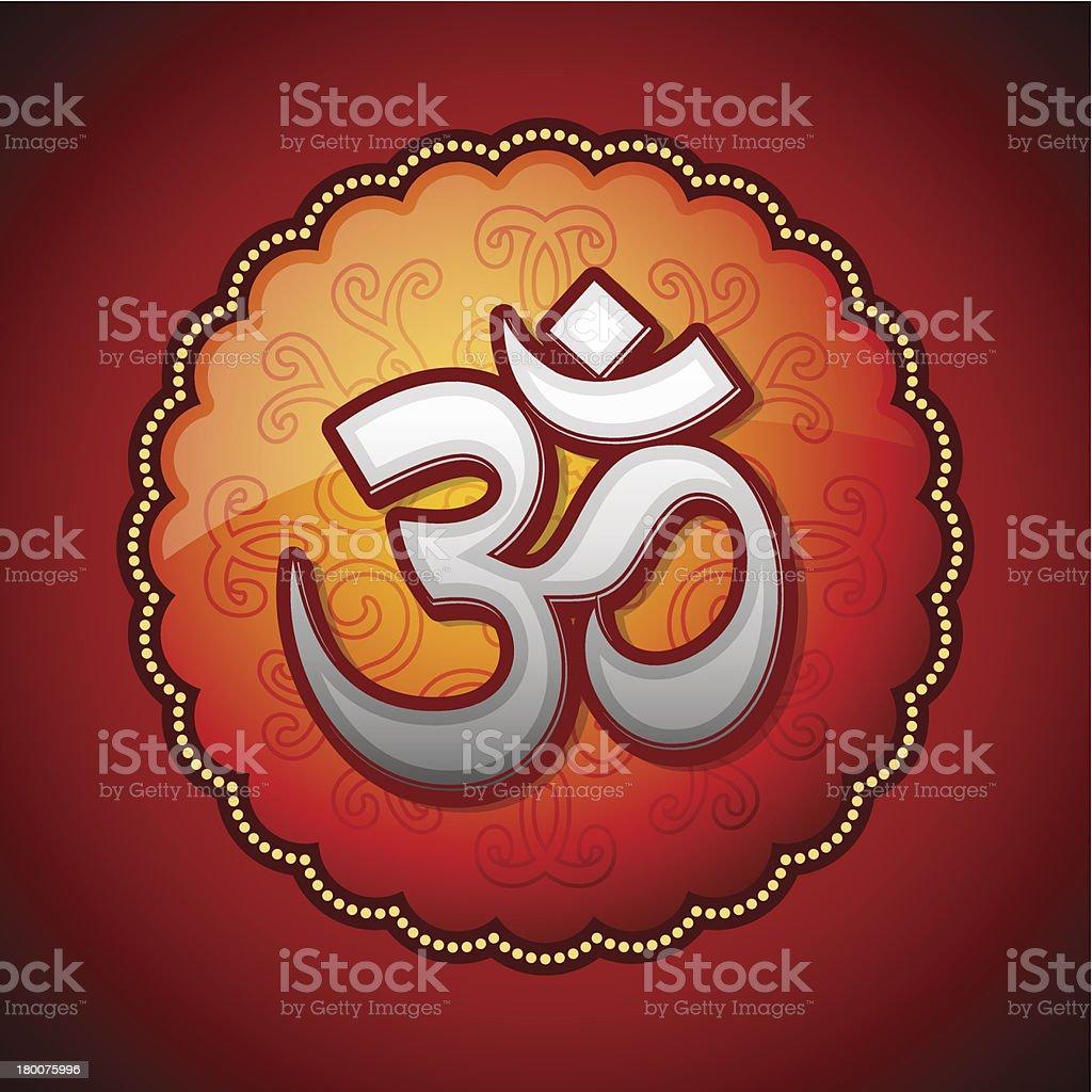 Om Sanskrit symbol royalty-free stock vector art