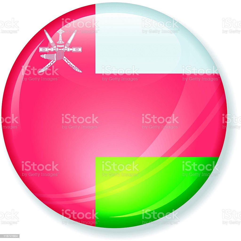 Oman Flag Super Glossy royalty-free stock vector art