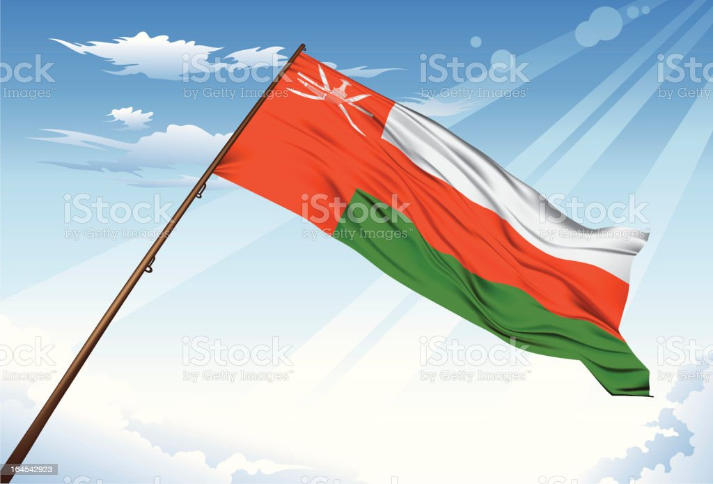 Oman flag royalty-free stock vector art