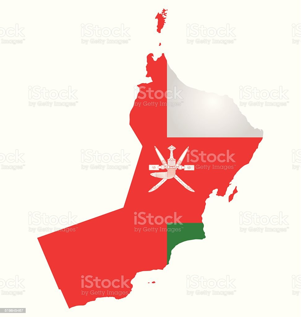 Oman Flag vector art illustration