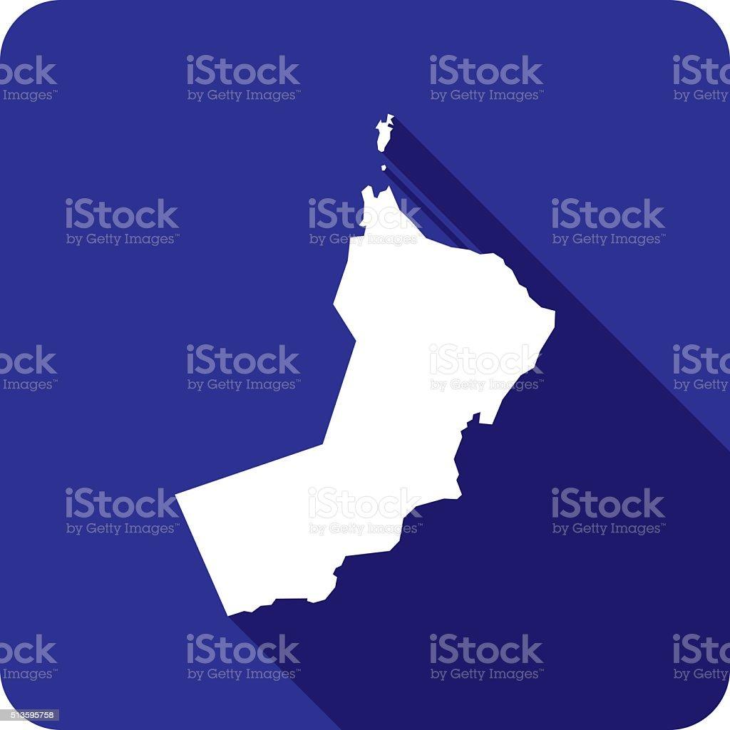 Oman Icon Silhouette vector art illustration