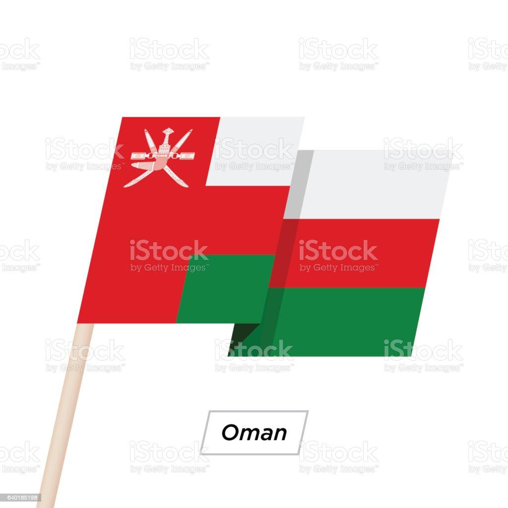 Oman Ribbon Waving Flag Isolated on White. Vector Illustration. vector art illustration