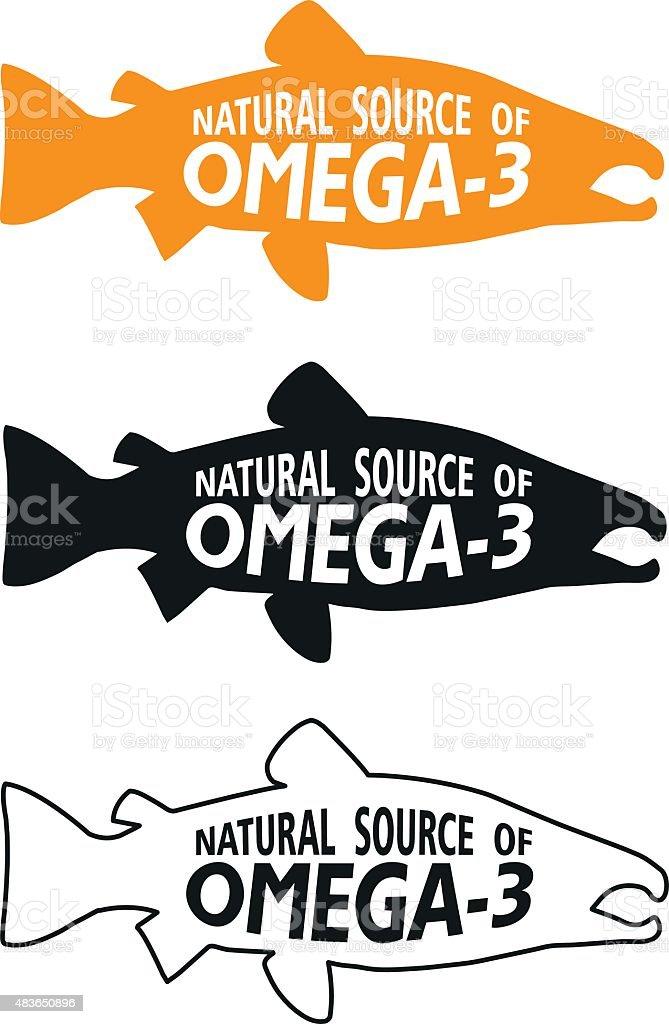Omega 3 Symbol. Vector Illustrations Icon On A White Background. vector art illustration