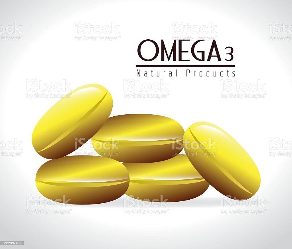 Omega design, vector illustration. vector art illustration