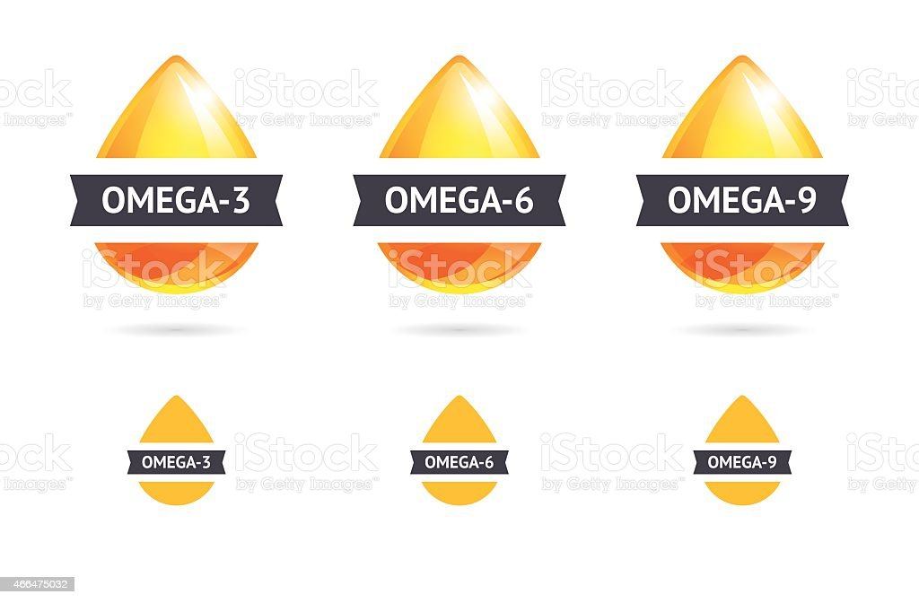 Omega Fatty Acids vector art illustration