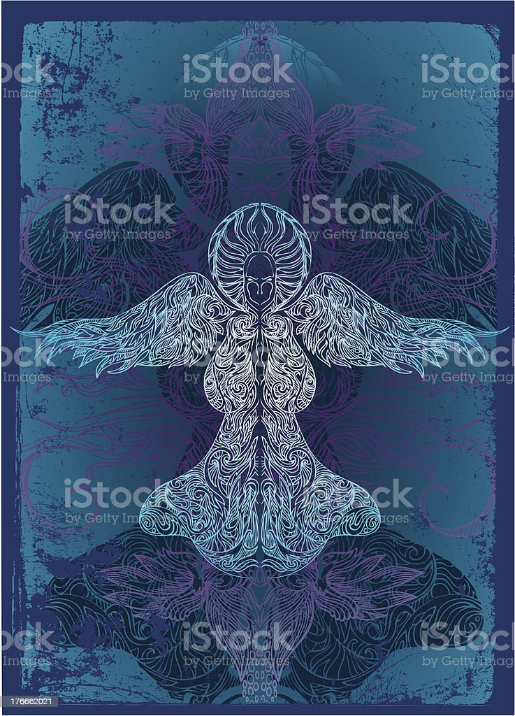 ominous angel royalty-free stock vector art