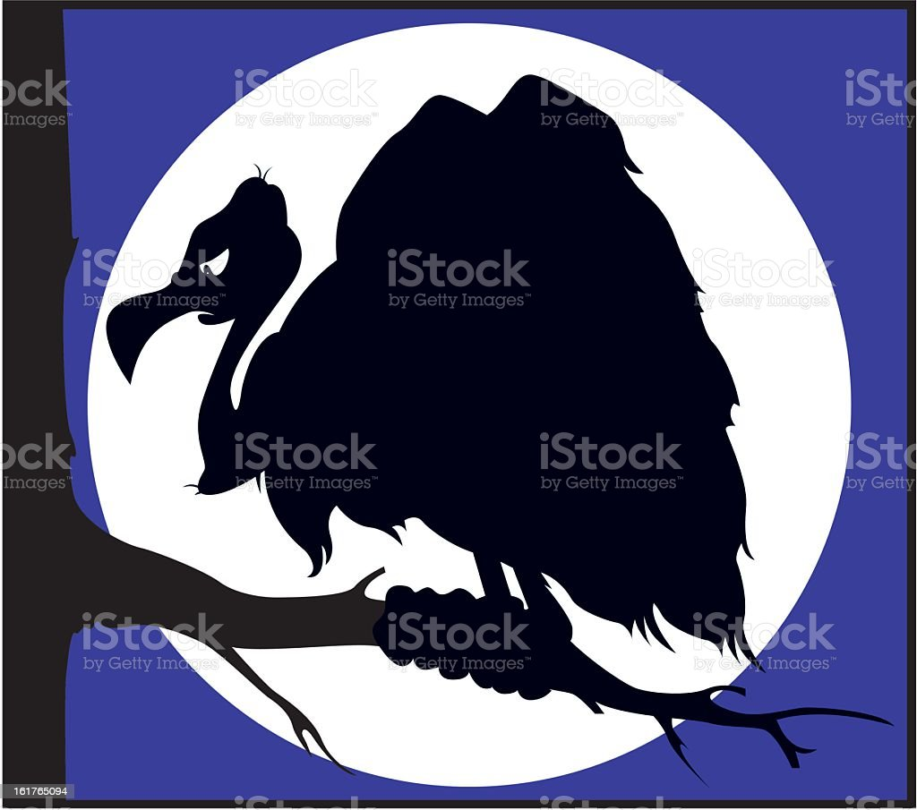Ominous Vulture Silhouette royalty-free stock vector art
