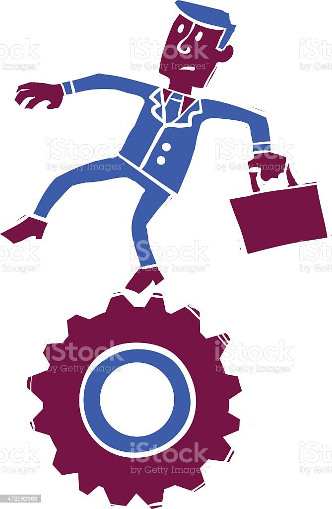 On a Gear royalty-free stock vector art