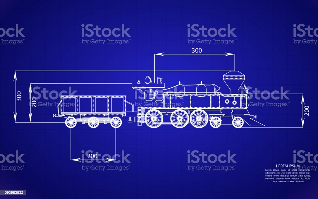 On blue background railroad blueprints isolated object gears stock on blue background railroad blueprints isolated object gears royalty free stock vector art malvernweather Gallery