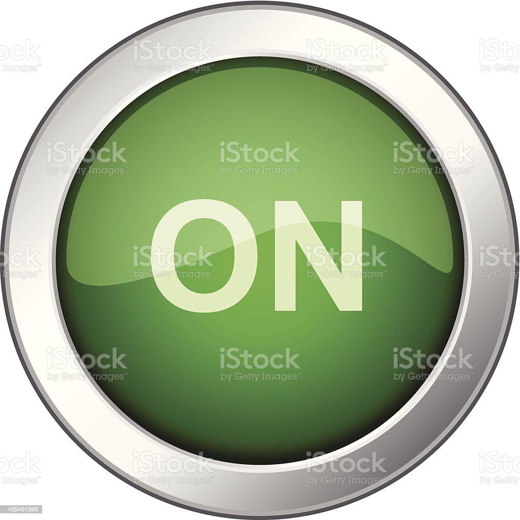 On Button Icon vector art illustration
