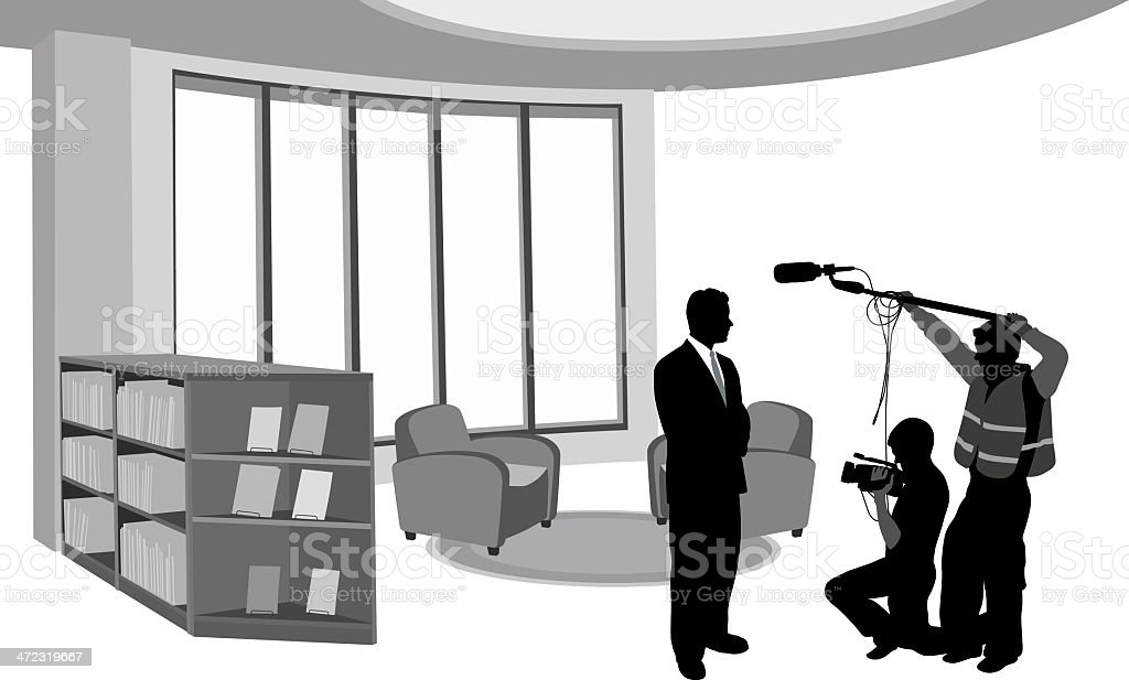 On Camera royalty-free stock vector art