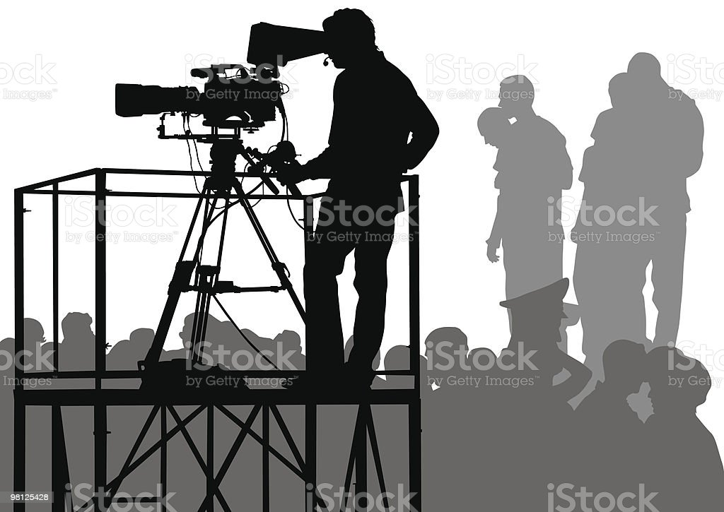 TV on crowds royalty-free stock vector art