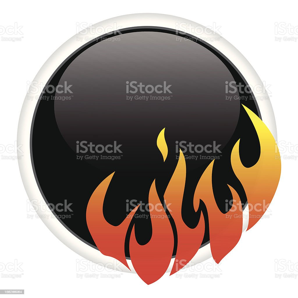 On Fire! royalty-free stock vector art