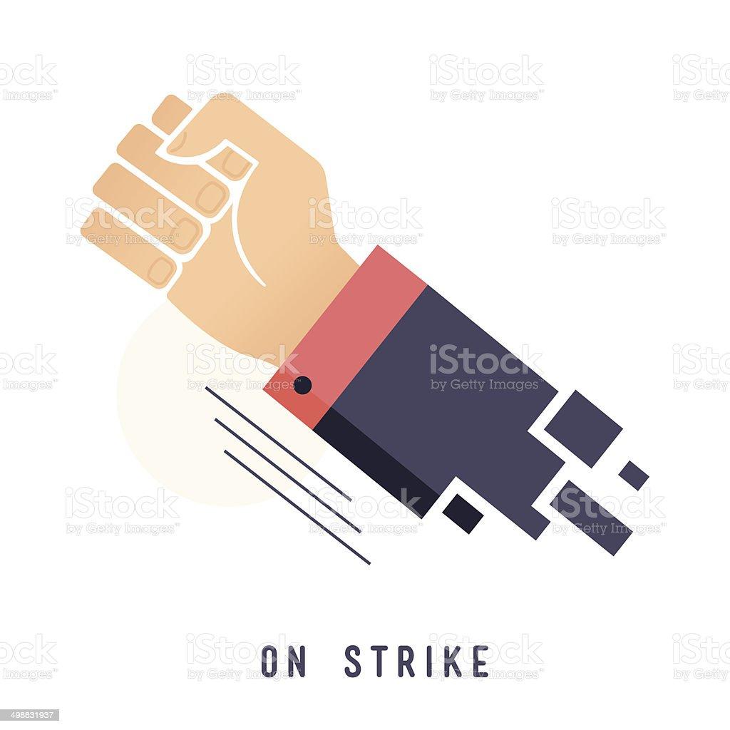 On Strike vector art illustration
