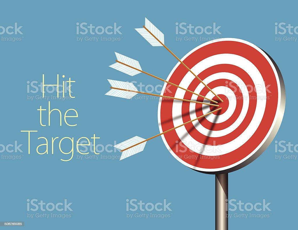 On target vector art illustration