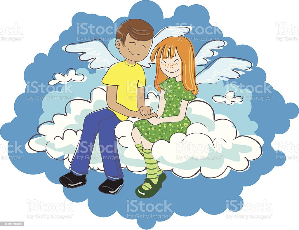 On the cloud royalty-free stock vector art
