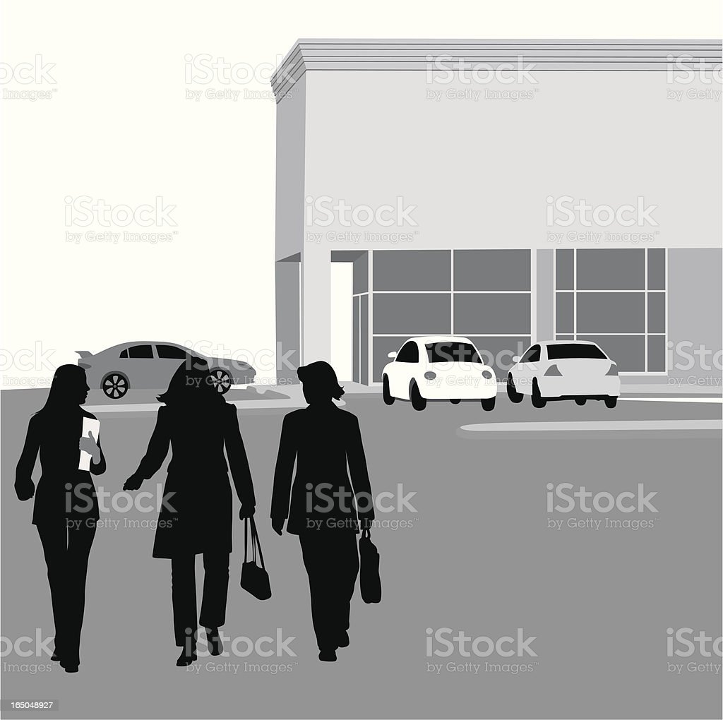 On The Go Vector Silhouette royalty-free stock vector art