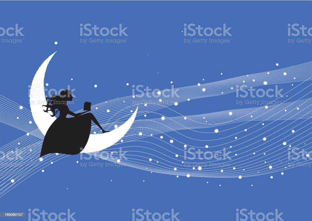 On the moon royalty-free stock vector art