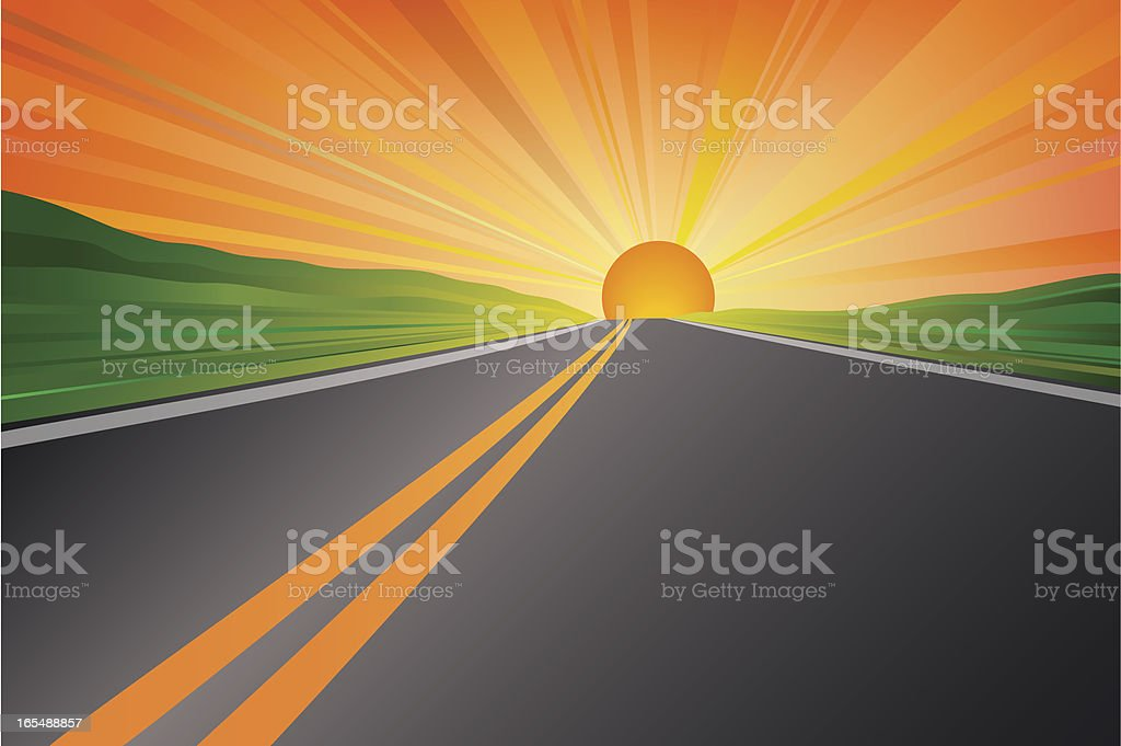 On the Road royalty-free stock vector art