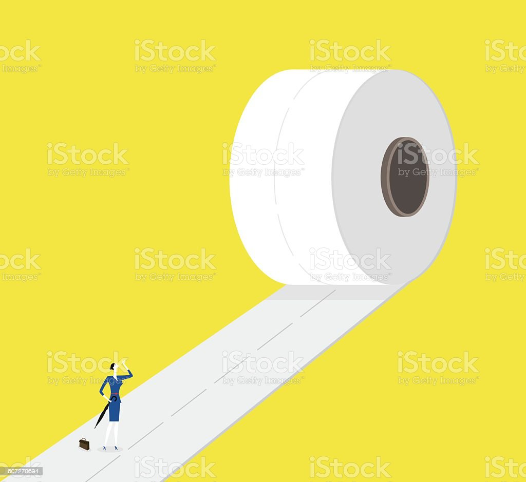 On the way forward vector art illustration