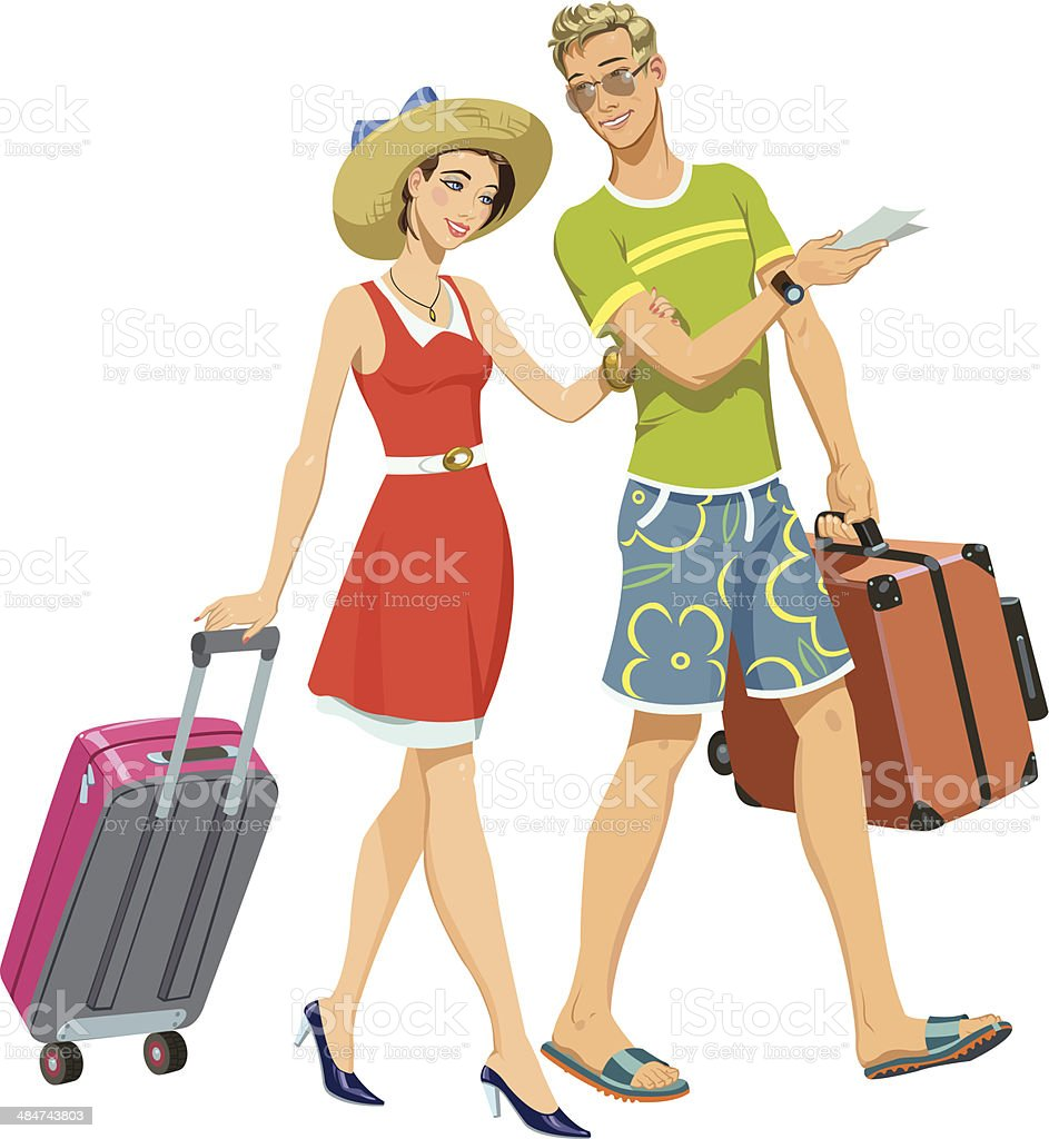 on vacation royalty-free stock vector art