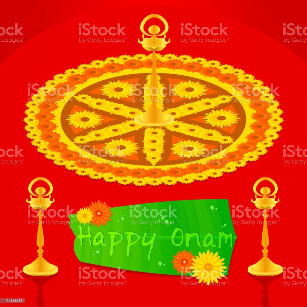 Onam Greetings royalty-free stock vector art