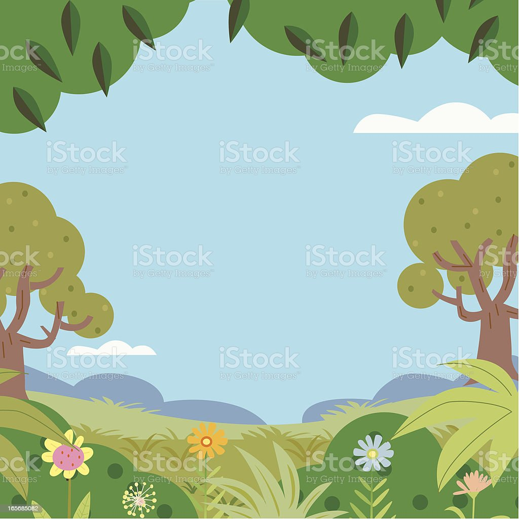 Once upon a Summers day royalty-free stock vector art