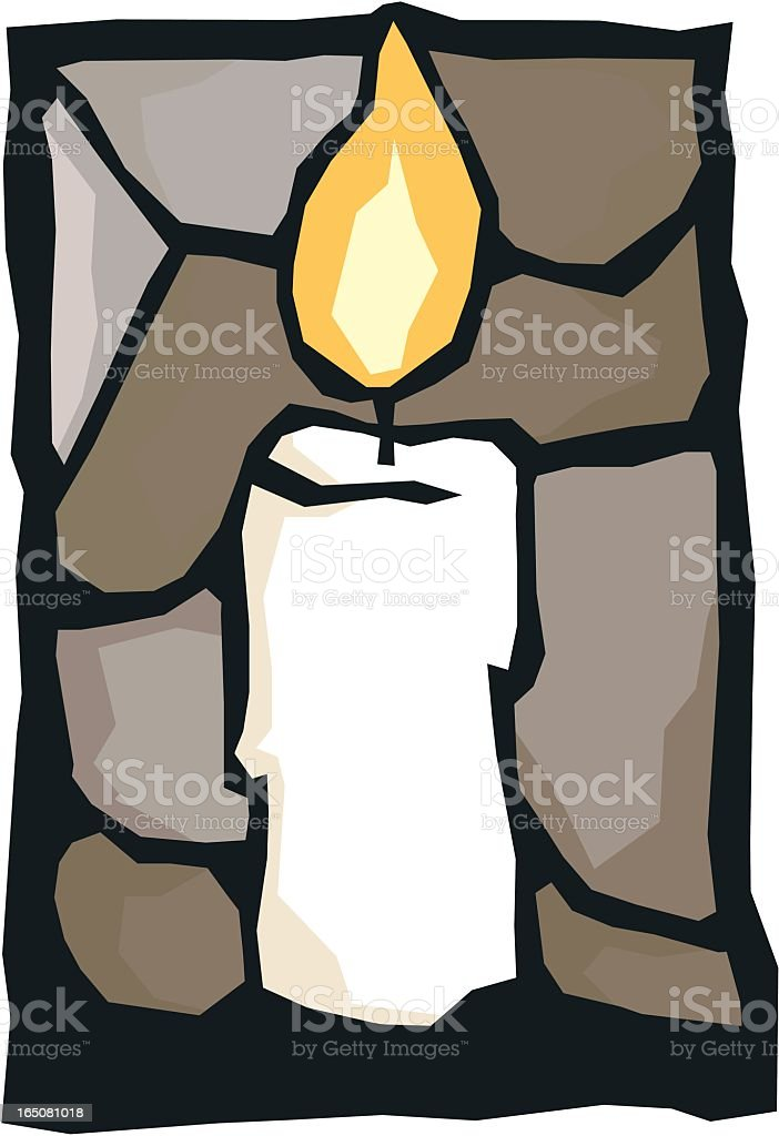 One Candle royalty-free stock vector art