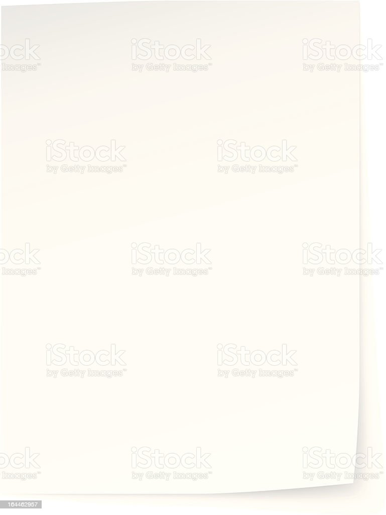 one credit blank sheet of paper vector art illustration