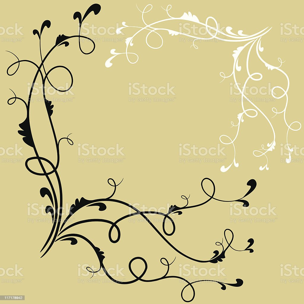 One credit hand drawn vector design elements - swirls royalty-free stock vector art