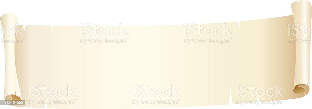 One Credit roll of ragged paper royalty-free stock vector art