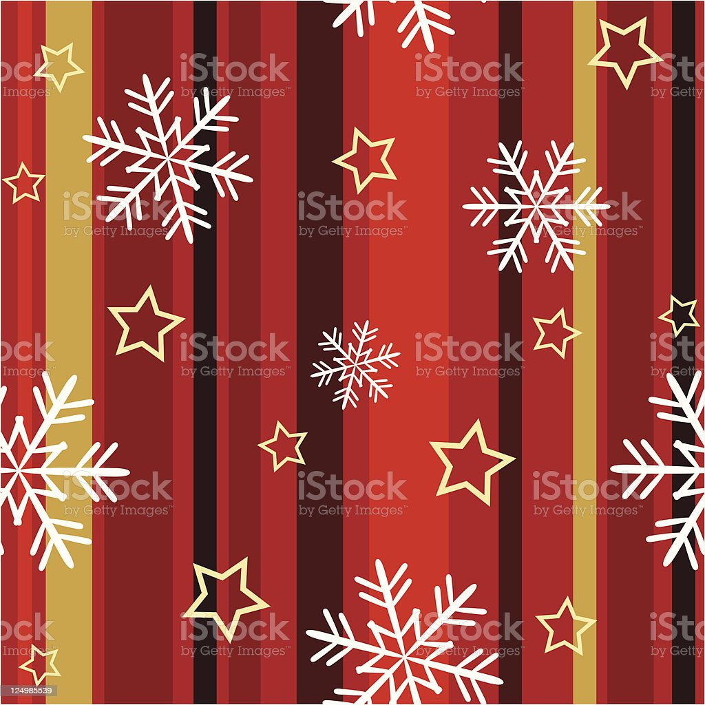 One credit seamless Christmas pattern royalty-free stock vector art