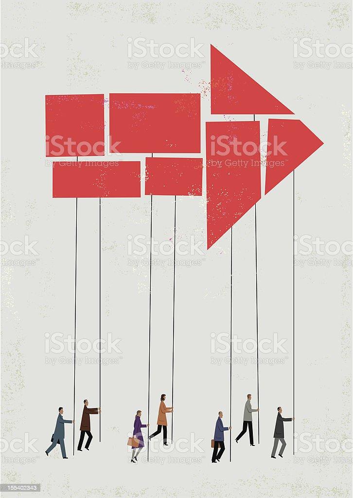 One direction vector art illustration