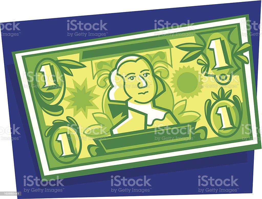 one dollar bill royalty-free stock vector art