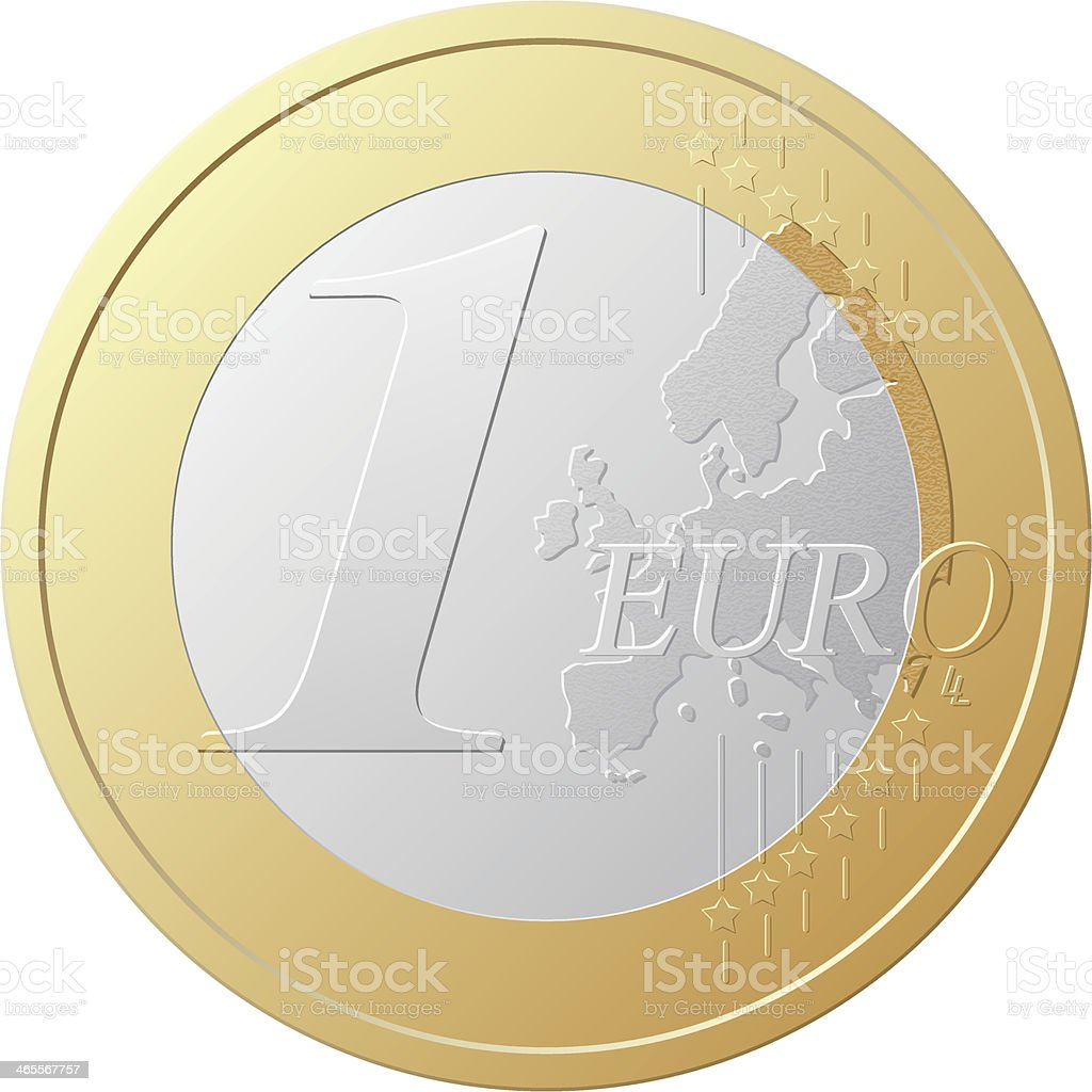 one euro coin vector illustration royalty-free stock vector art