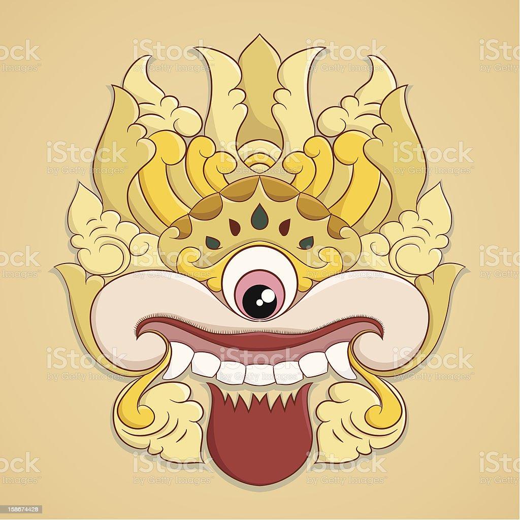 One Eye Ornament vector art illustration