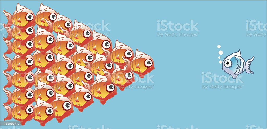 one in front royalty-free stock vector art