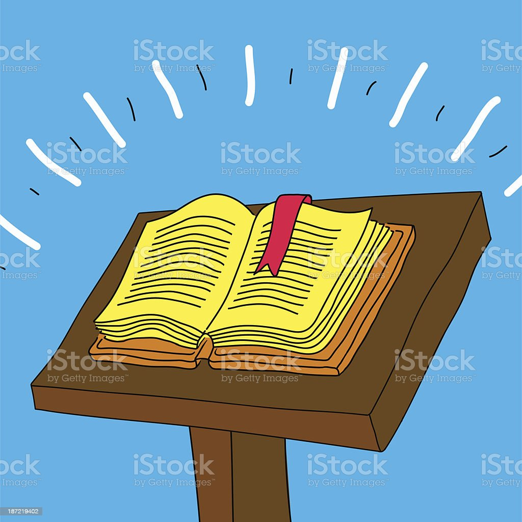 One Old book royalty-free stock vector art