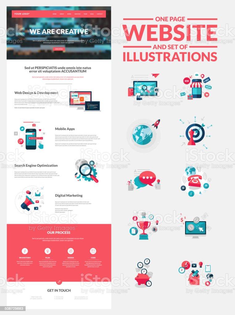 Una plantilla de diseño página web illustracion libre de derechos libre de derechos