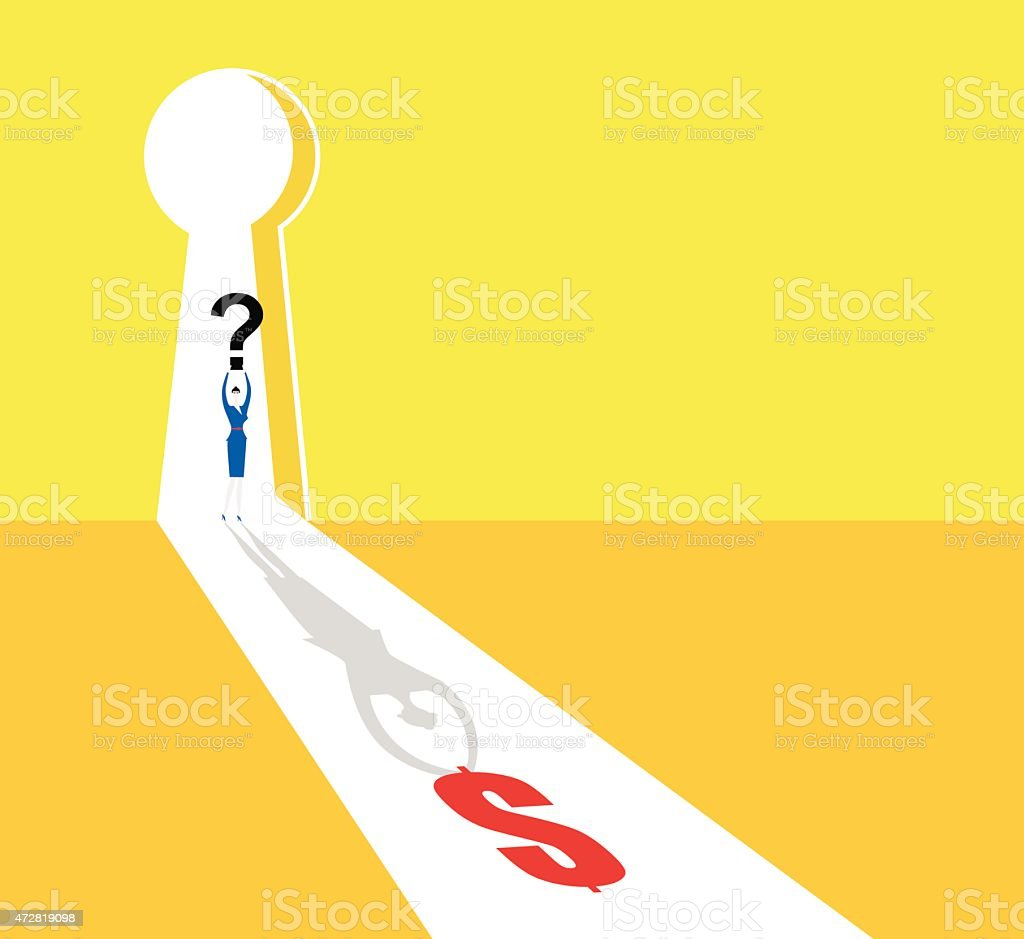 One step away to success vector art illustration