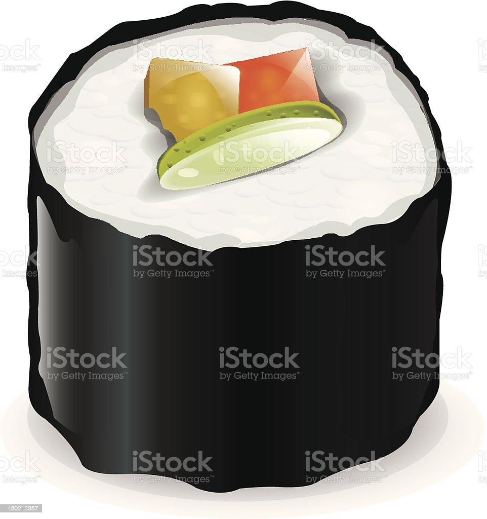 One Sushi vector art illustration