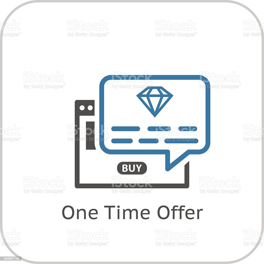 One Time Offer Icon. Flat Design. vector art illustration