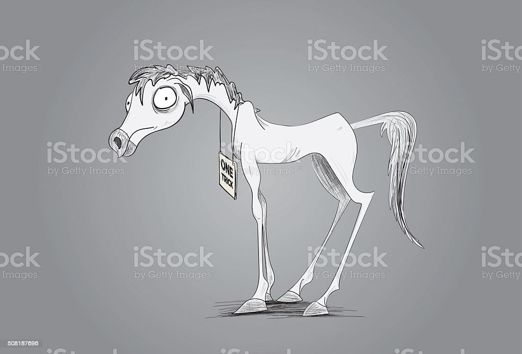 One Trick Pony vector art illustration