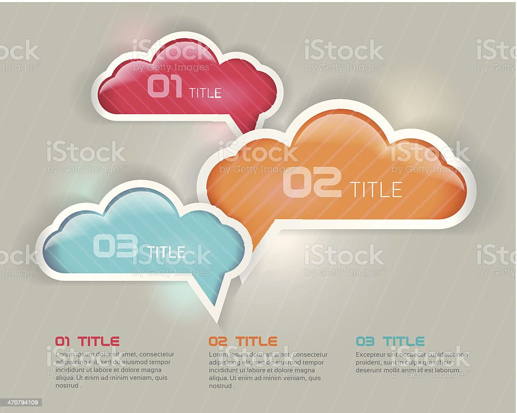 One two free - vector clouds options royalty-free stock vector art