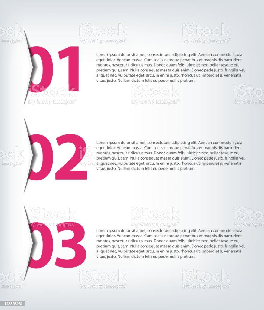 One two three - vector progress icons royalty-free stock vector art