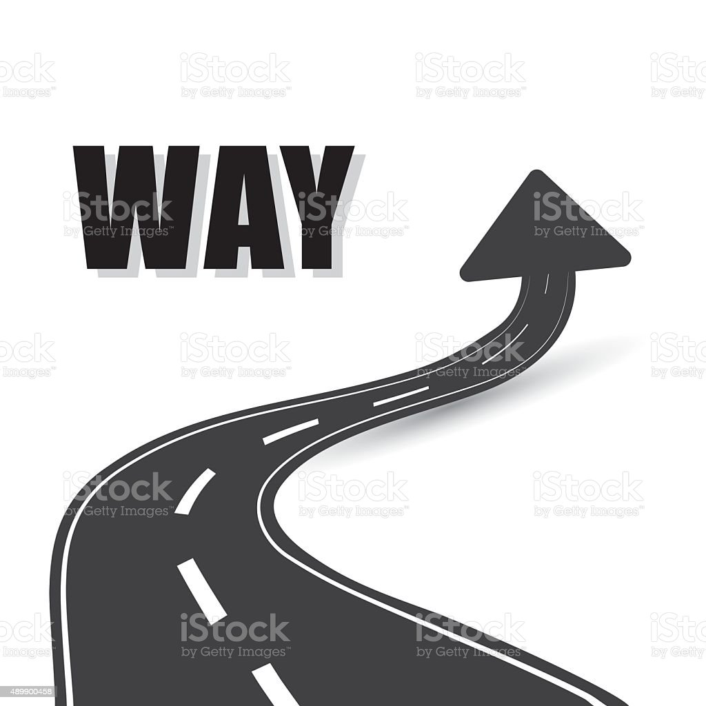 One way road sign advertising design, vector art illustration